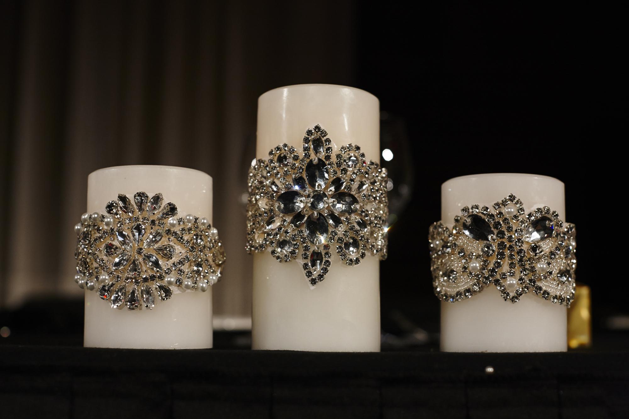 Swarovski crystal Encrusted Led candles