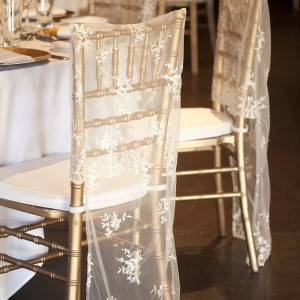 Vintage Lace Tiffany Chair Cover Off White