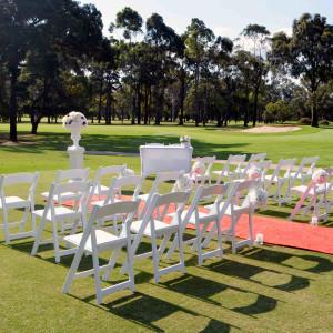 White foldable Americano chairs 1 1