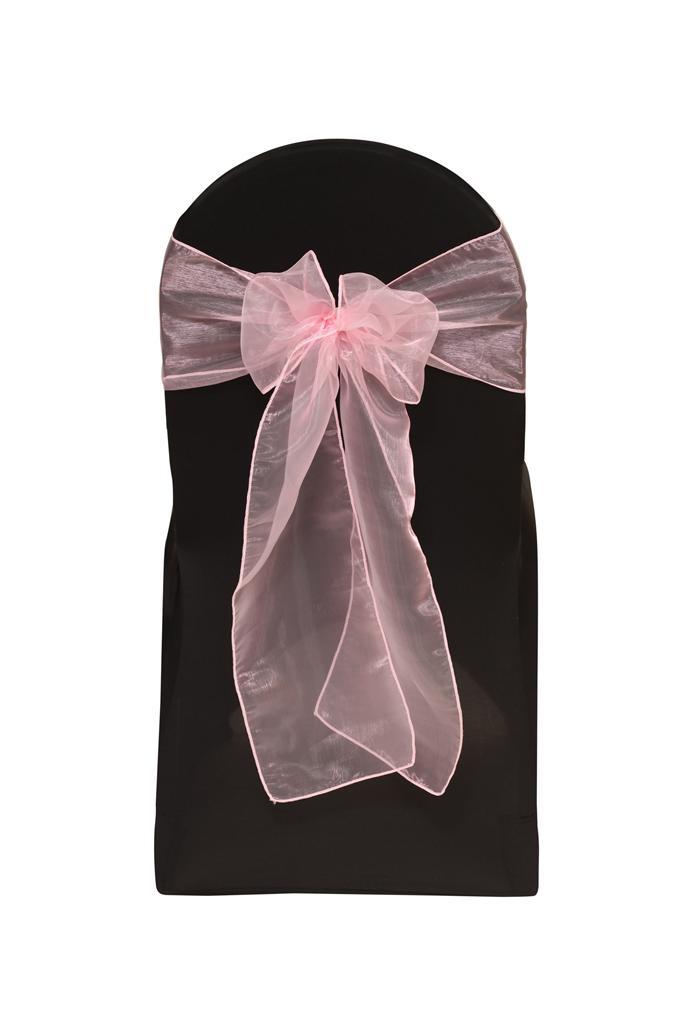Baby Pink Organza Chair Sash