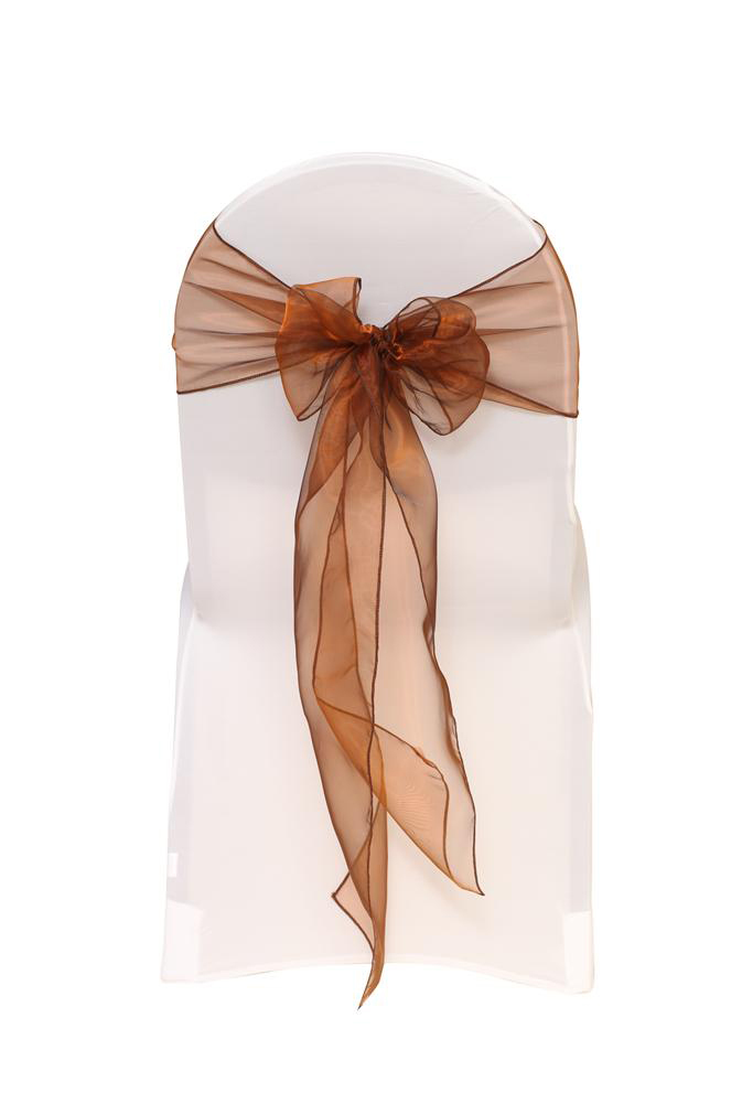 Chocolate Brown Organza Chair Sash