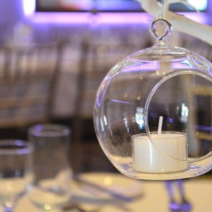 Floating Glass Round Tealight Holder