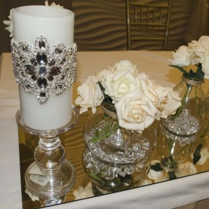 Swarovski Crystal Encrusted Hand Beaded Candle 2