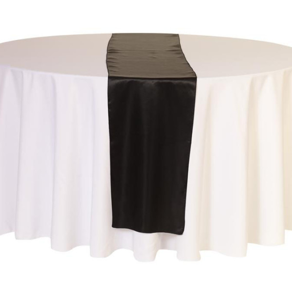 Black Satin Table Runner