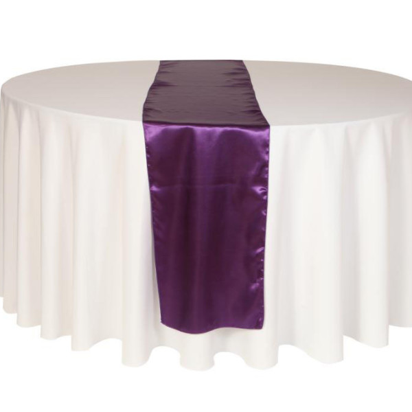 Cadbury Purple Satin Table Runner