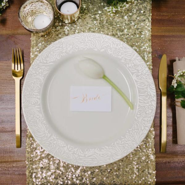Gold Sequinn Table Runner