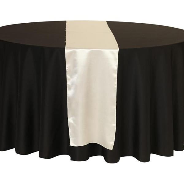 Ivory Satin Table Runner
