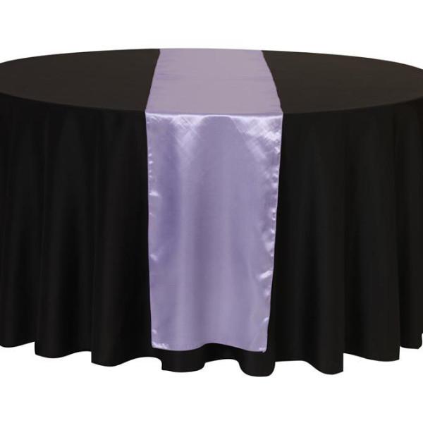 Lavender Satin Table Runner