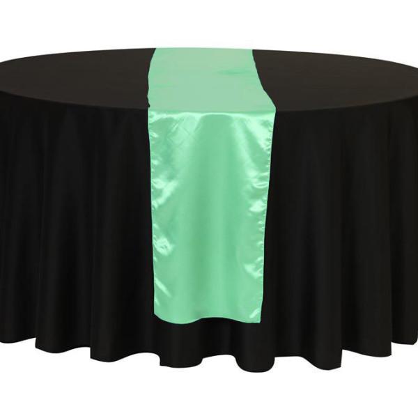 Mint Green Satin Table Runner