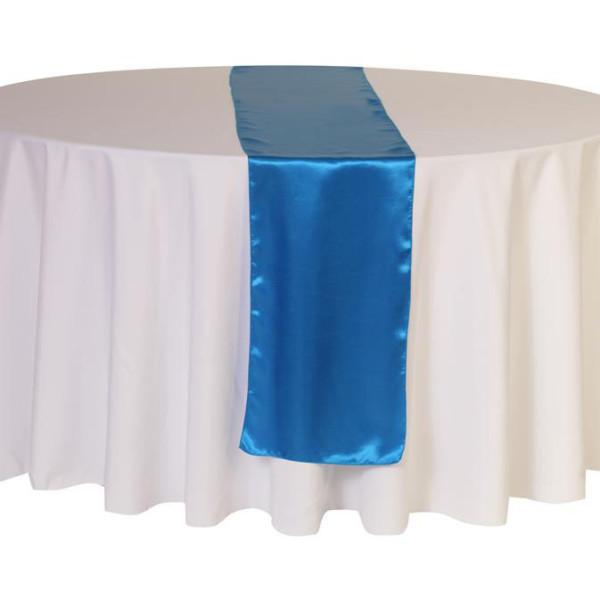 Royal Blue Satin Table Runner
