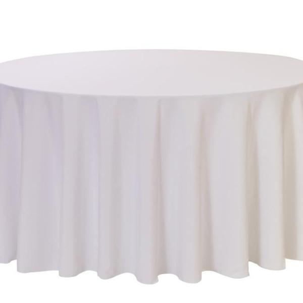 White Round Linen Table Cloth 3m x 3m