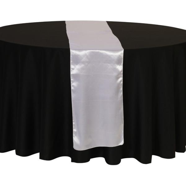 White Satin Table Runner